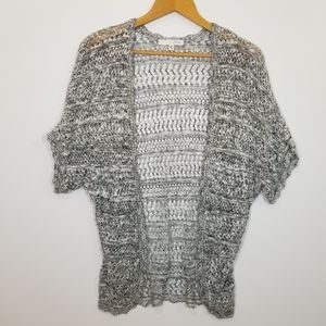 SAY WHAT? OPEN WEAVE CARDIGAN SIZE XSMALL